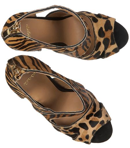 Animal-Print Cutout-Schuhe von Topshop