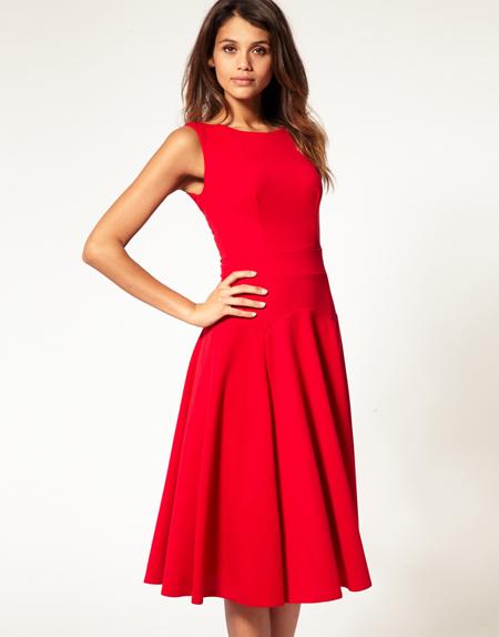 ASOS rotes Kleid
