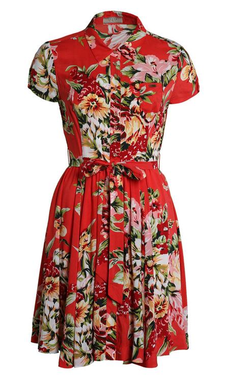 Guess Rebeque Kleid mit buntem Blumenmuster