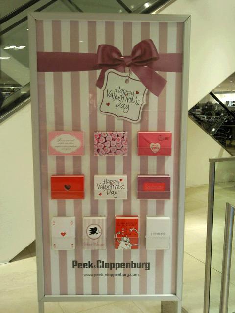 P&C Valentinskarten Ständer