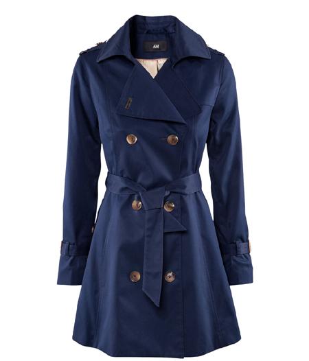Blauer Trenchcoat von H&M