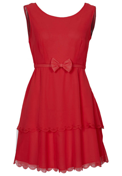 VILA rotes Kleid