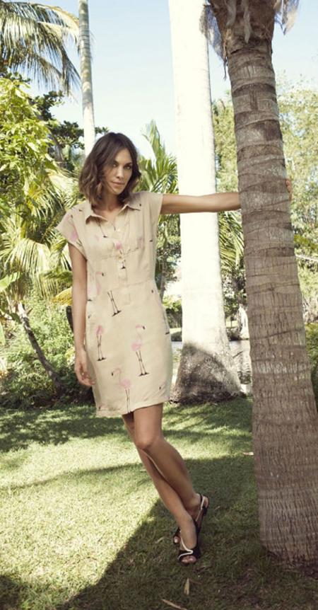 Alexa Chung Kleid Vero Moda Flamingo Summer 2012 Kampagne