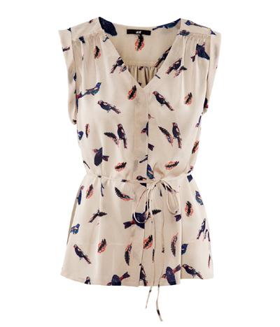 Bluse mit Vögeln von H&M