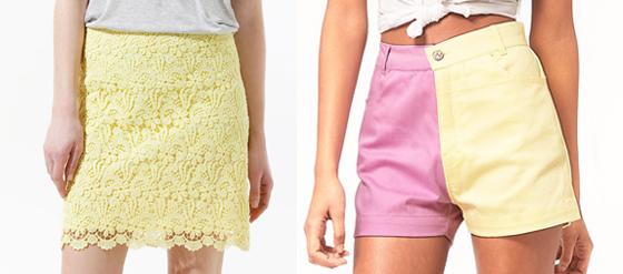Kleidung in Pastellfarben