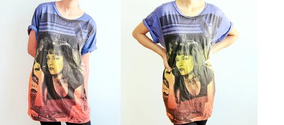 Pulp Fiction Shirts mit Uma Thurman