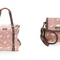 Taschen mit Flamingo Druck Print