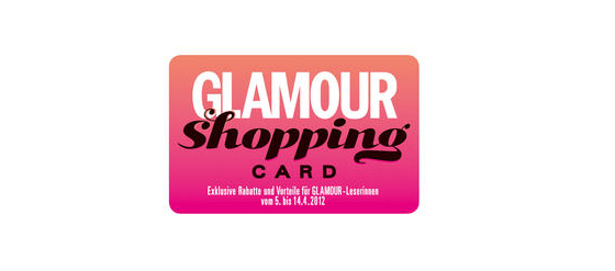 Glamour Shopping Card 2012