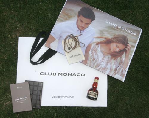 Goodie-Bag Club Monaco Shop Opening in der Galeries Lafayette Berlin