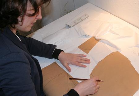 Grundschnitt vom Ausschnitt - Form wird übertragen