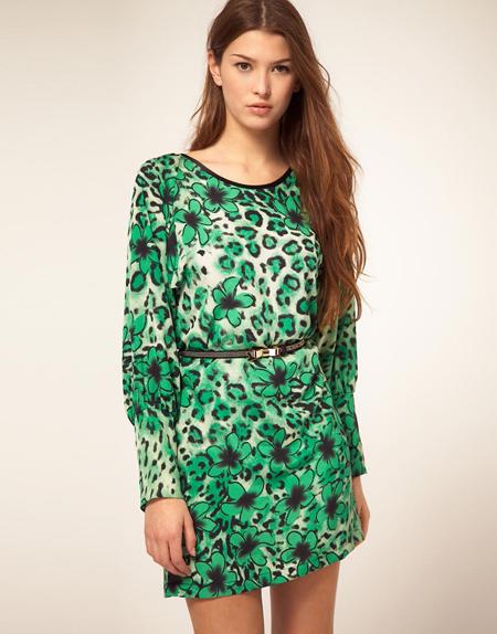 Liquorish – Geblümtes Kleid mit Leopardenmuster, 50,10 Euro