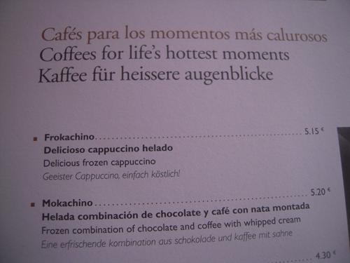 Cappuccino Cafe auf Mallorca