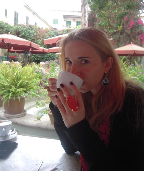 Cappuccino Cafe auf Palma de Mallorca