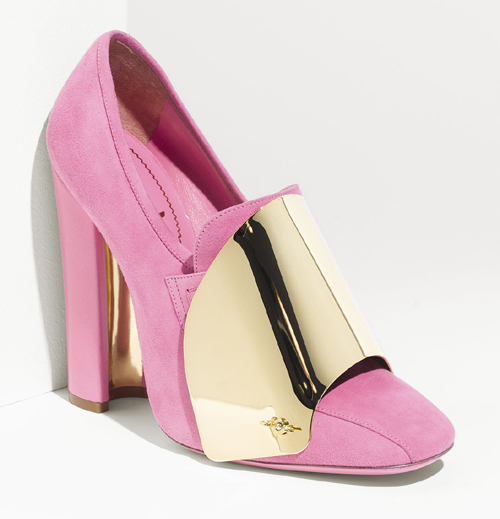 Cardinal Loaferpumps mit Metallic-Detail Yves Saint Laurent 1