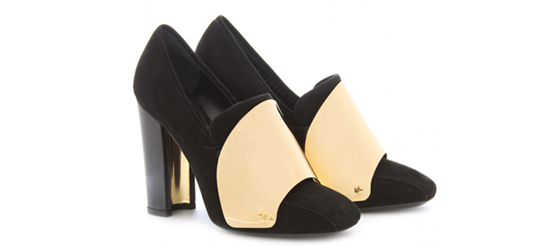 Cardinal Loaferpumps mit Metallic-Detail Yves Saint Laurent