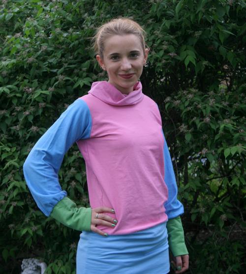bunter Sweatshirt im Color-Blocking-Style