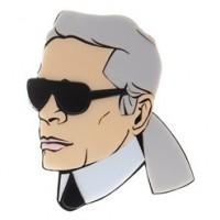 Große Karl Lagerfeld Ansteck-Brosche