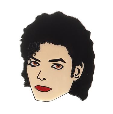 Große Michael Jackson Ansteck-Brosche