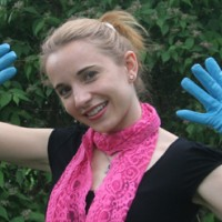 Meine neuen blauen Lederhandschuhe 1