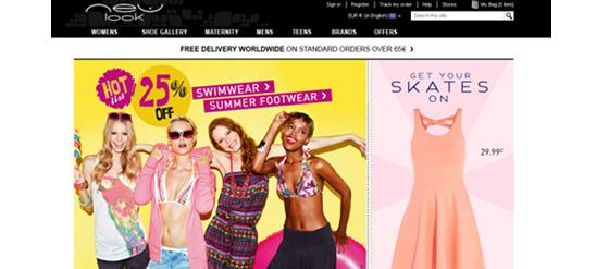 Der Onlineshop New Look