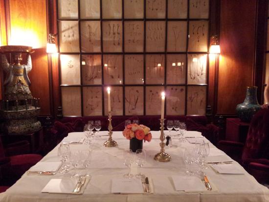 Unser Tisch im Restaurant vom Hotel Costes