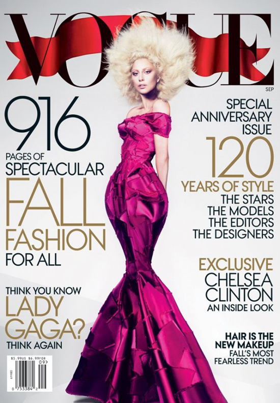 Vogue Cover Amerika September 2012 mit Lady Gaga