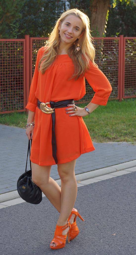 Meine orangefarbenen Schuhe von schuhtempel24.de
