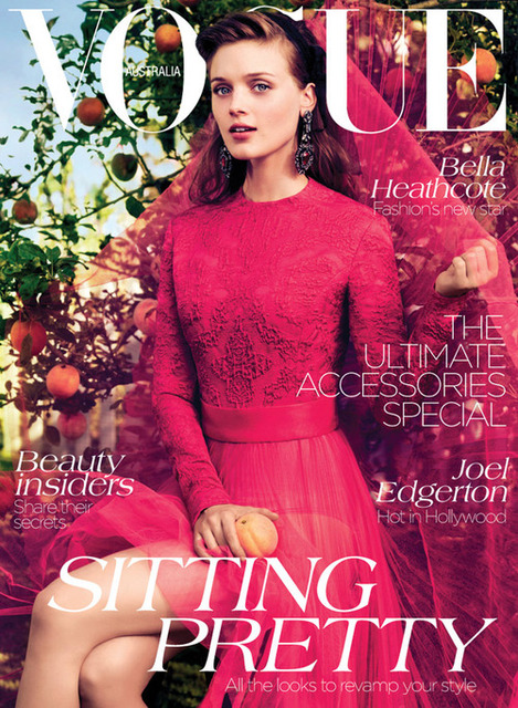 Vogue Cover Australien September 2012 mit Bella Heathcote