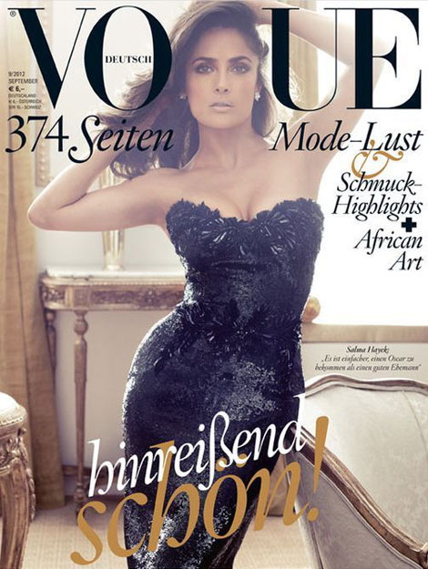 Vogue Cover Deutschland September 2012 mit Salma Hayek