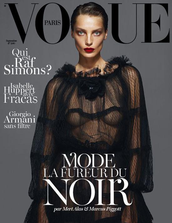 Vogue Cover Frankreich September 2012 mit Daria Werbowy