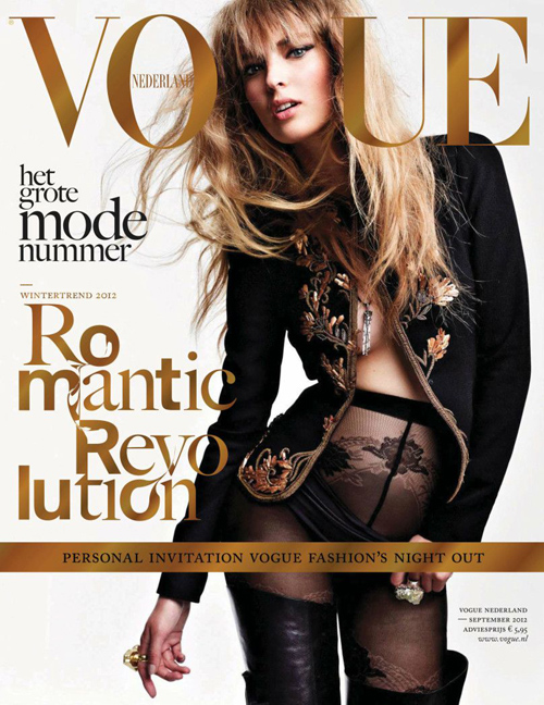 Vogue Cover Niederlande September 2012 mit Ymre Stiekema