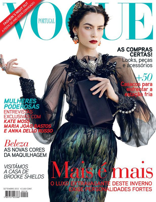 Vogue Cover Portugal September 2012 mit Patrycja Gardygajlo