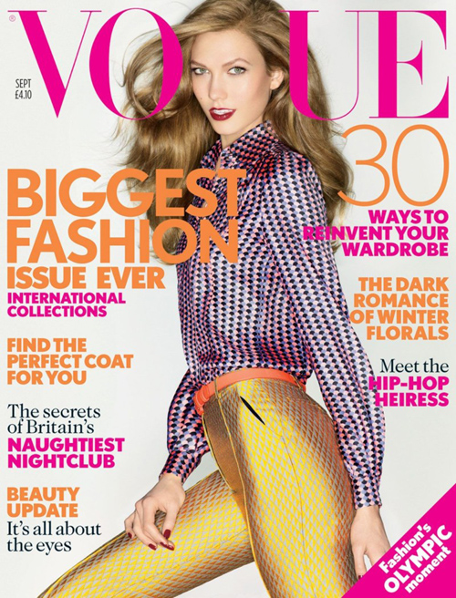 Vogue Cover UK September 2012 mit Karlie Kloss
