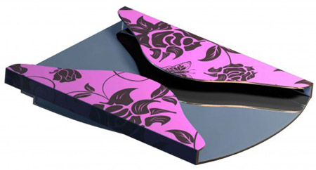 Ladymoneyclip pink-Flower SKIN 1