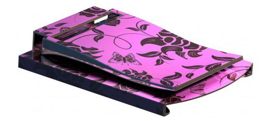 Ladymoneyclip pink-Flower SKIN