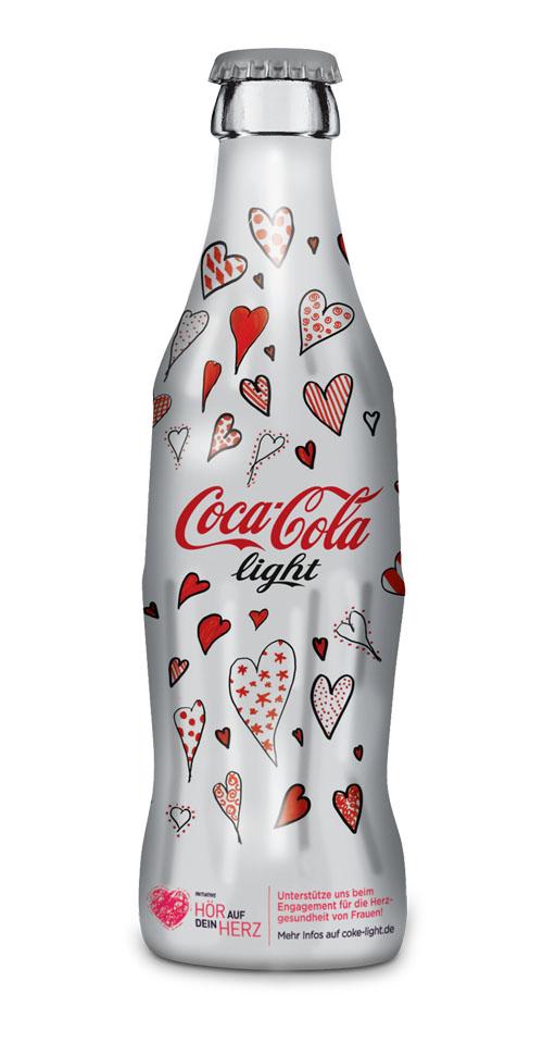 Limitiert Coca-Cola light Flasche zum Weltherztag 1