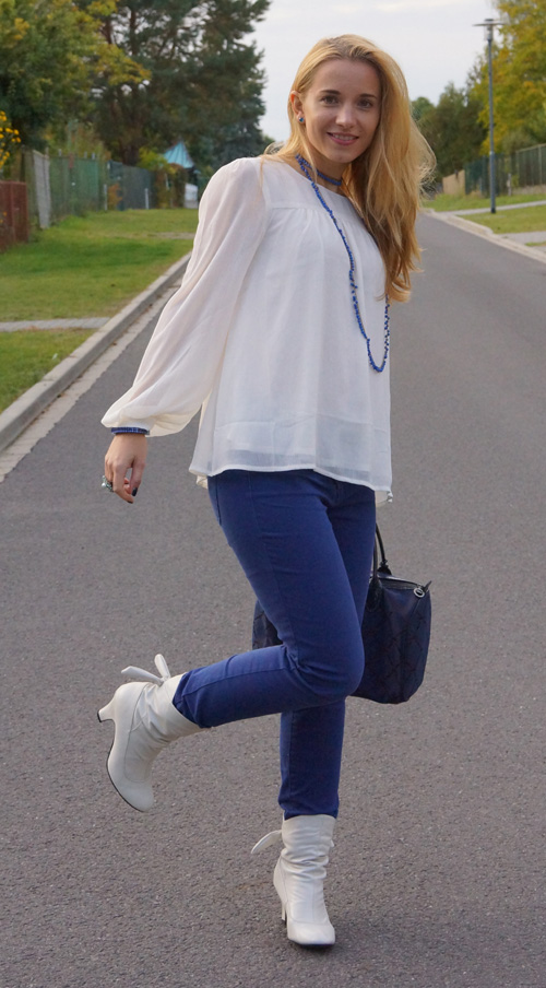 Outfit Blue and White 3