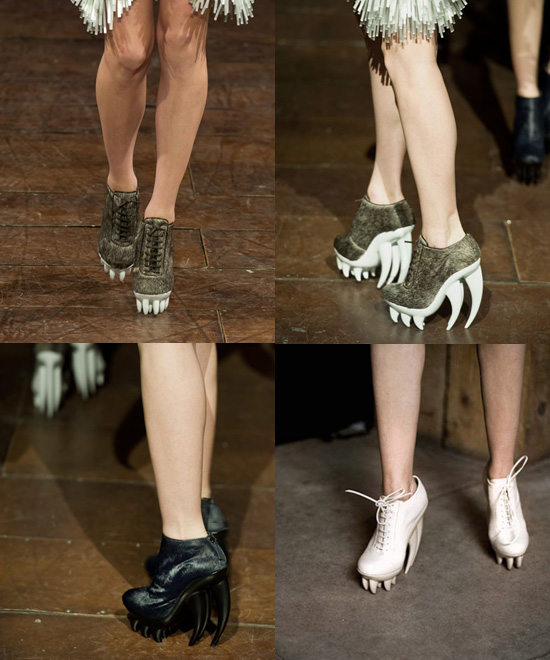 Fang Hai Zahn Schuh von Iris van Herpen und United Nude 1