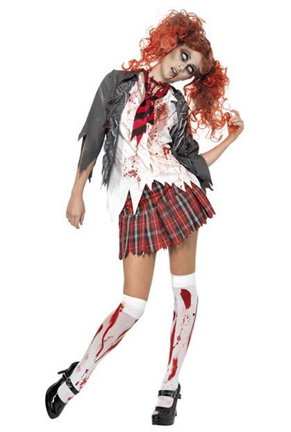 Halloweenkostüm Horror Schülerin