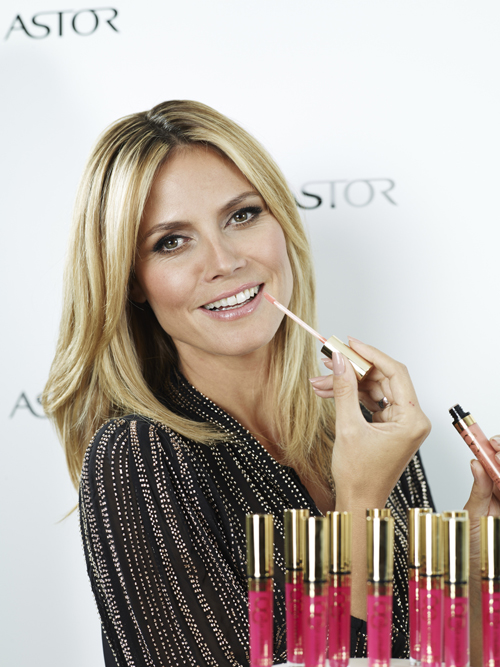 Heidi Klum und ASTOR Perfect Stay 8H-Lipgloss in Berlin 2