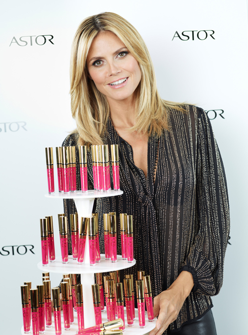 Heidi Klum und ASTOR Perfect Stay 8H-Lipgloss in Berlin 3