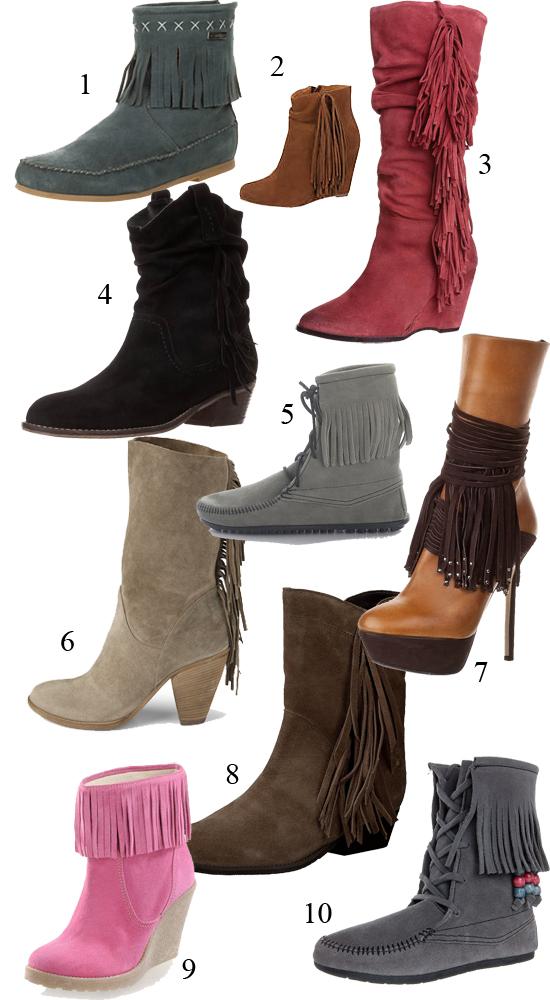Schuhe mit Fransen Fransenschuhe