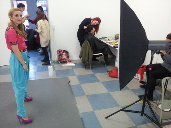 Backstage beim Common Vintage Fotoshooting 3