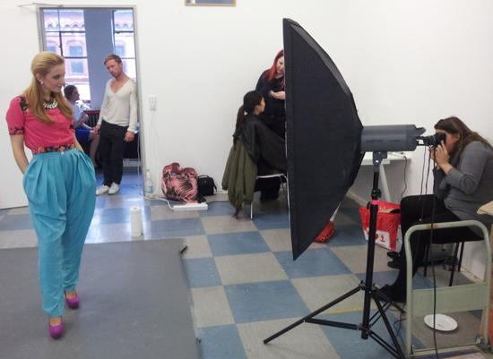 Backstage beim Common Vintage Fotoshooting 4