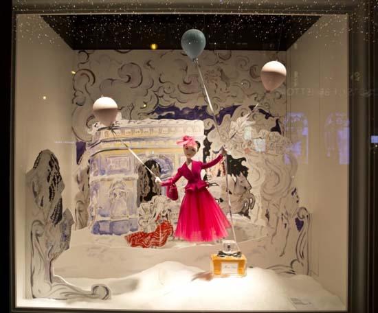Dior Schaufenster im Kaufhaus Printemps 2