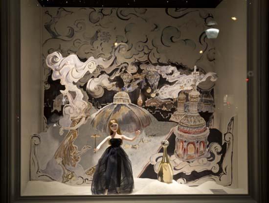 Dior Schaufenster im Kaufhaus Printemps 3