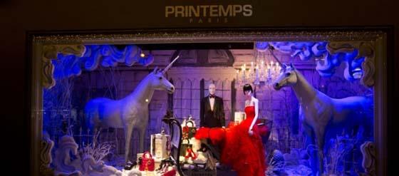Dior Schaufenster im Kaufhaus Printemps