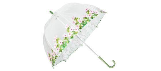 Ella Doran Birdcage-2 Regenschirm mit rosa Blumen von ASOS