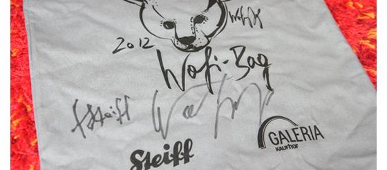 Wofi Bag Unterscrift Steiff und Wolfgang Joop