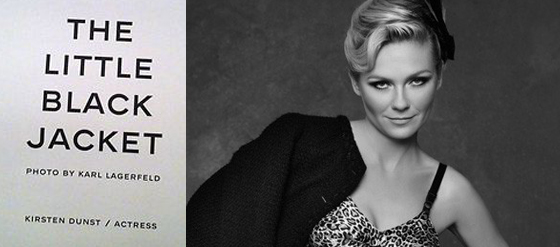 Chanel The Little Black Jacket Poster mit Kirsten Dunst by Karl Lagerfeld